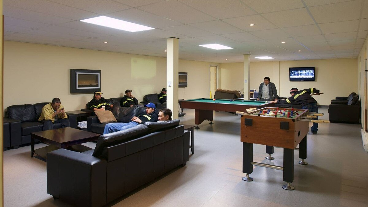 The employee lounge at Meadowbank Mine.