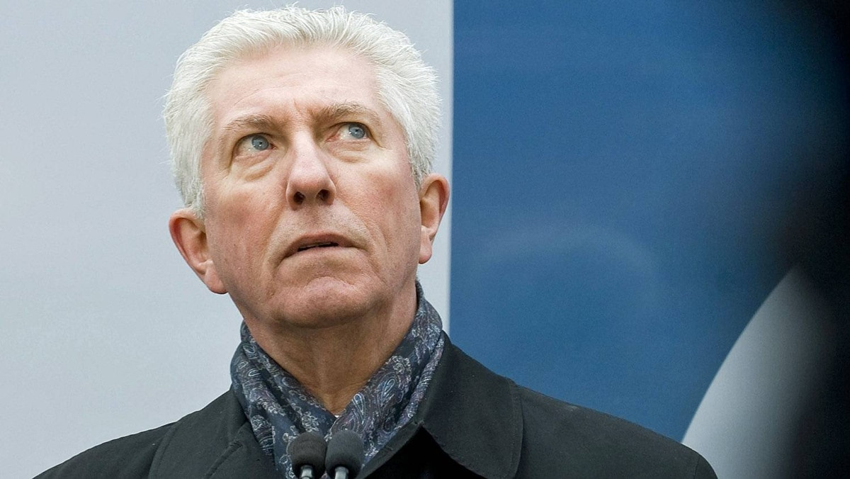 Bloc Quebecois Leader Gilles Duceppe speaks to reporters during a news conference in Montreal on March 29, 2011.