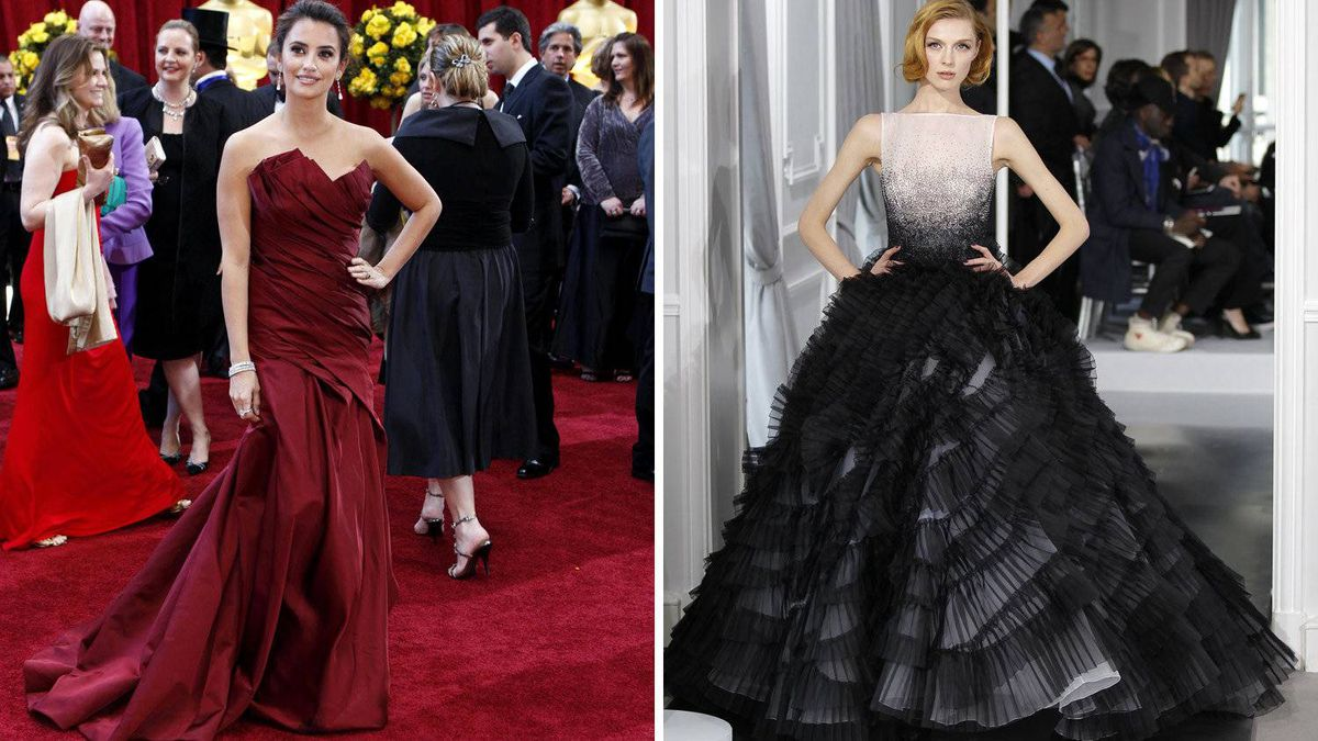 Penelope Cruz in Dior The actress is always a red-carpet favourite because she goes all out with rich fabrics and big gowns. This couture masterpiece would be perfect.