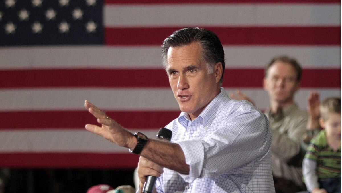 Mitt Romney speaks to supporters at a town hall meeting in Milwaukee, Wisconsin, April 2, 2012.