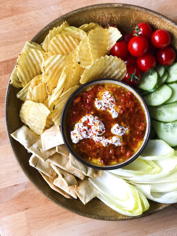 Embrace the heat with this red pepper dip