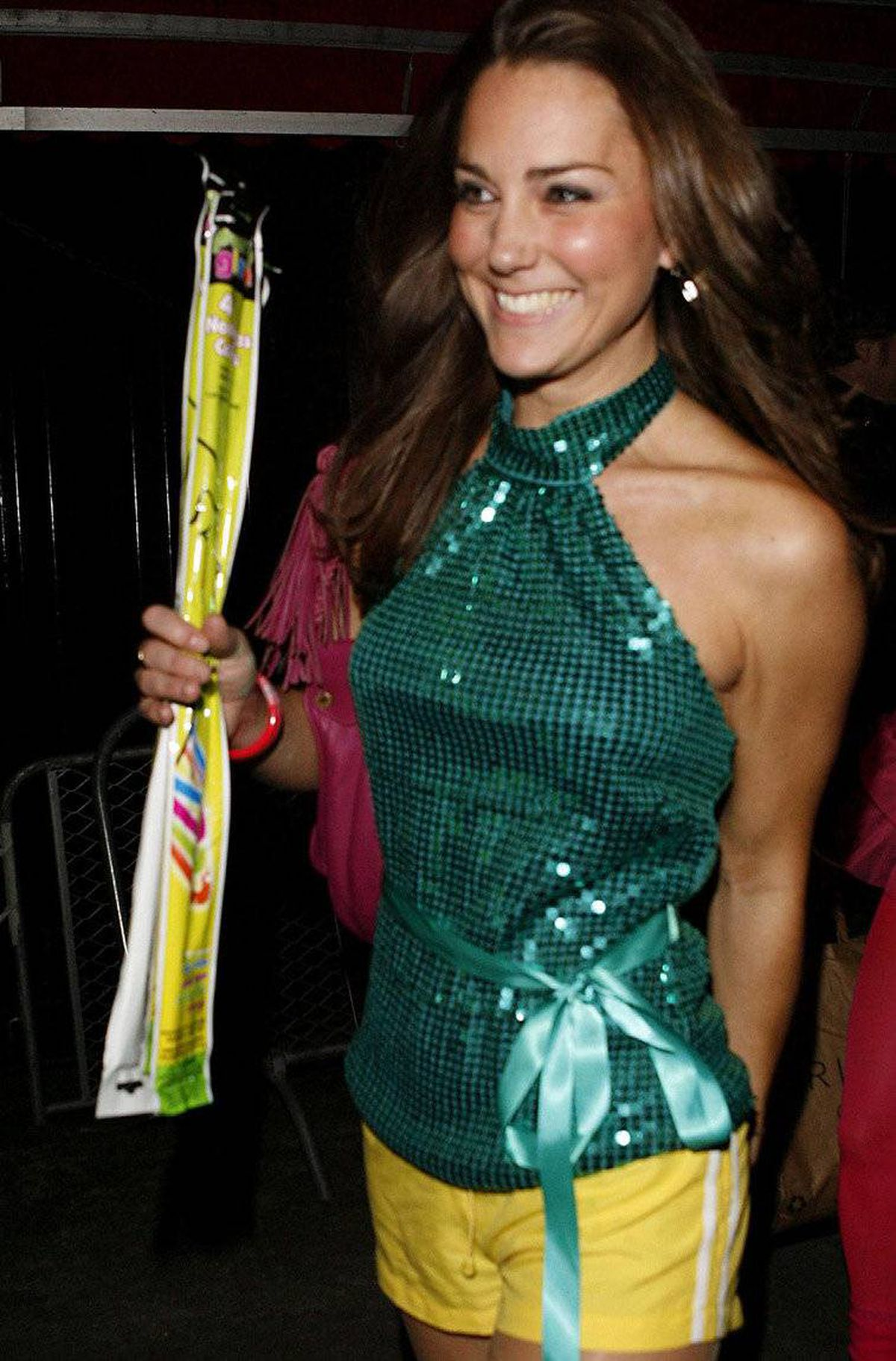 Kate Middleton arrives at a charity disco in London in 2009.