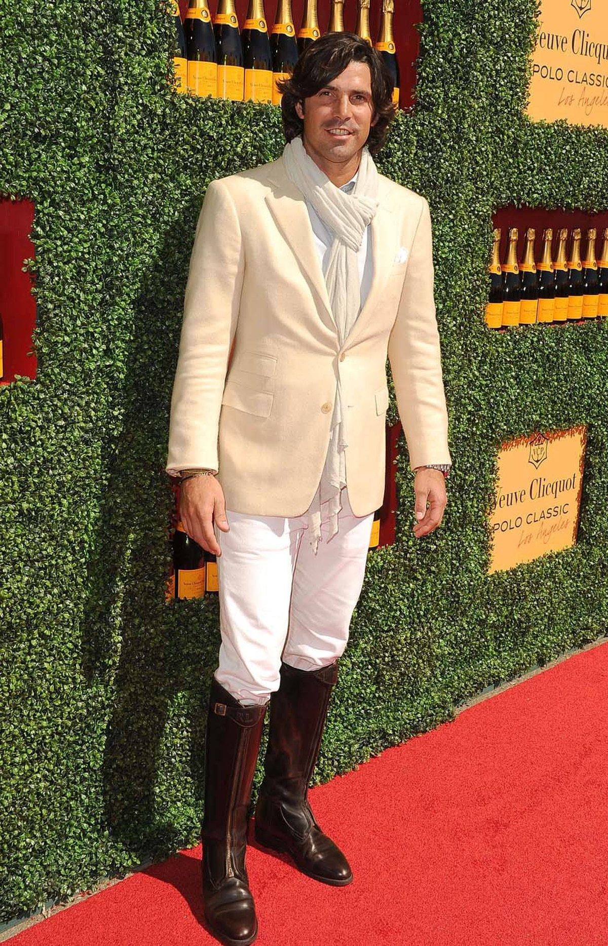 Host Nacho Figueras arrives at the Veuve Clicquot Polo Classic in Los Angeles on Sunday dressed like a complete tool.