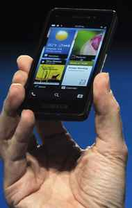 RIM claims this sturdy and squarish handset is just the demo model for developers. Called the Dev Alpha, it reportedly features a 4.2-inch, 1280 x 768 resolution screen, which would put it at the upper end of current generation smartphone displays. How different the final BB10 will be from the Alpha Dev remains a mystery.