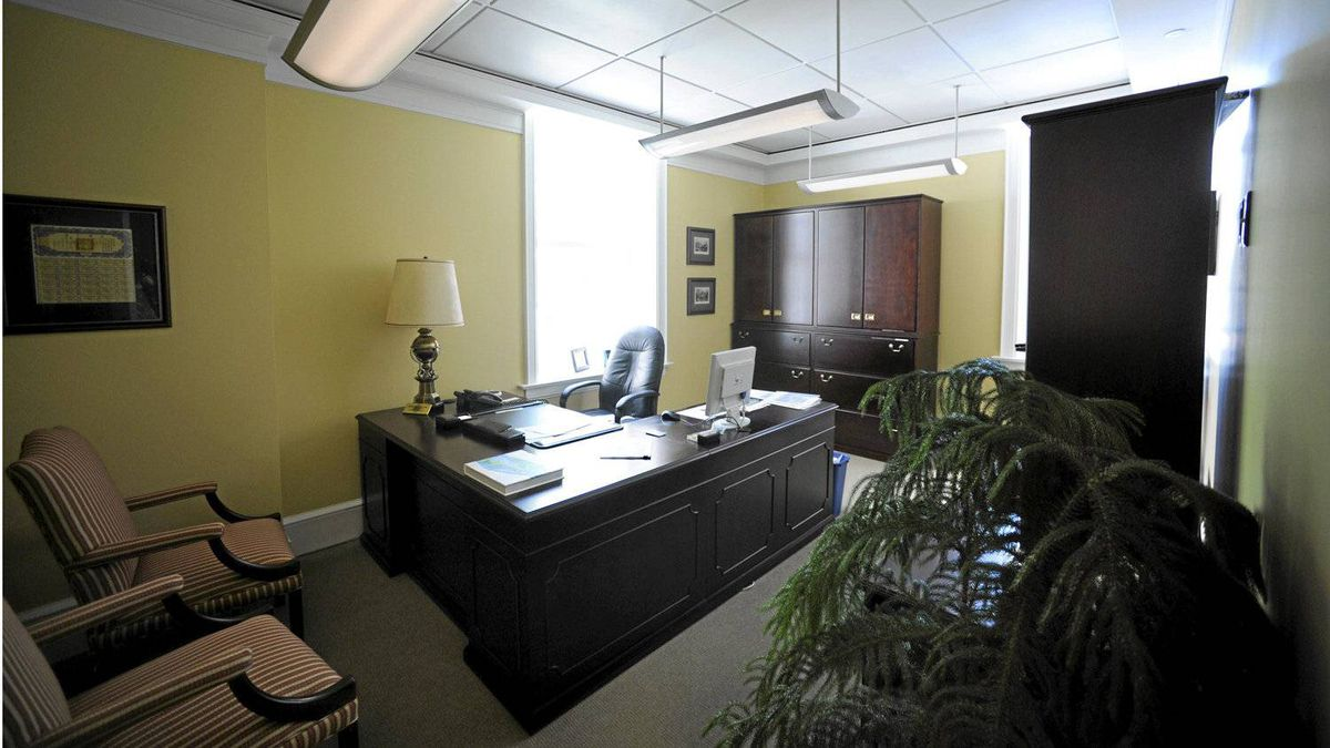 The new look of the corner office once occupied by Conrad Black. Following an extensive renovation, its new owners Morgan Meighen lifted ceilings, shrank the offices and eliminated what was once Lord Black's private washroom.