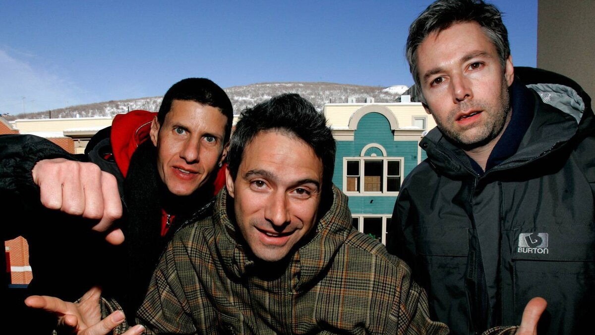 The Beastie Boys, Mike Diamond (L), Adam Horowitz and Adam Yauch (R), are photographed at the 2006 Sundance film festival in Park City, Utah.