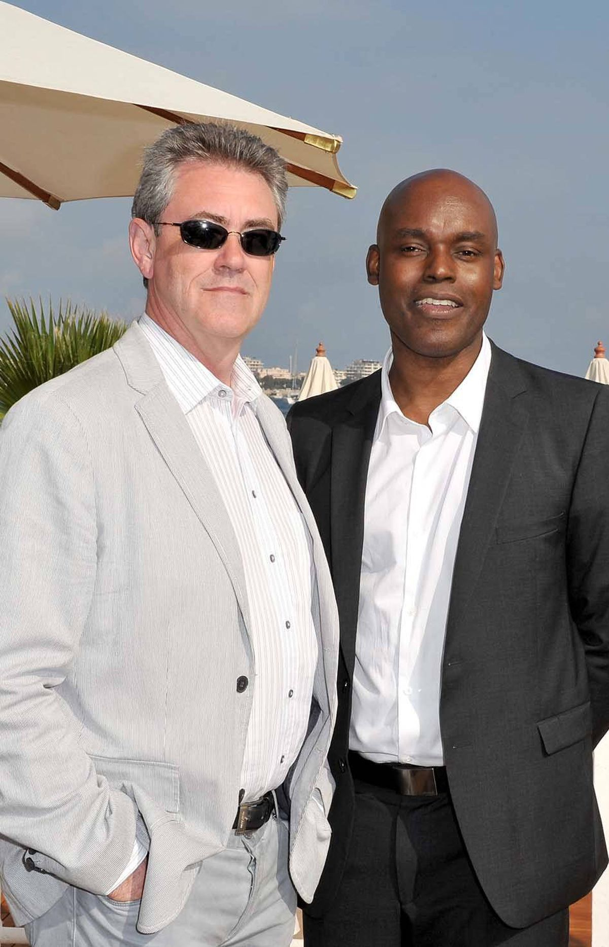 Piers Handling (left), CEO of the Toronto International Film Festival (TIFF), and TIFF director Cameron Bailey attend the TIFF party at the Cannes Film Festival on Friday.