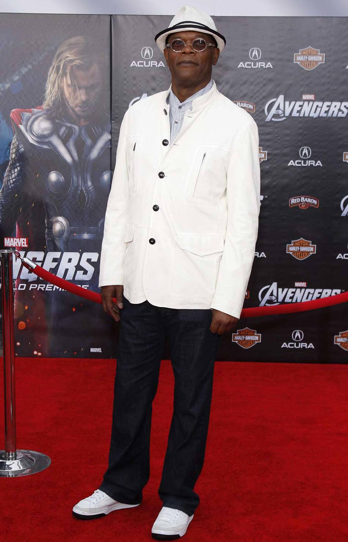 """Round Two: Samuel L. Jackson was the epitome of manly elegance at the premiere of """"Marvel's The Avengers"""" in Hollywood last week."""