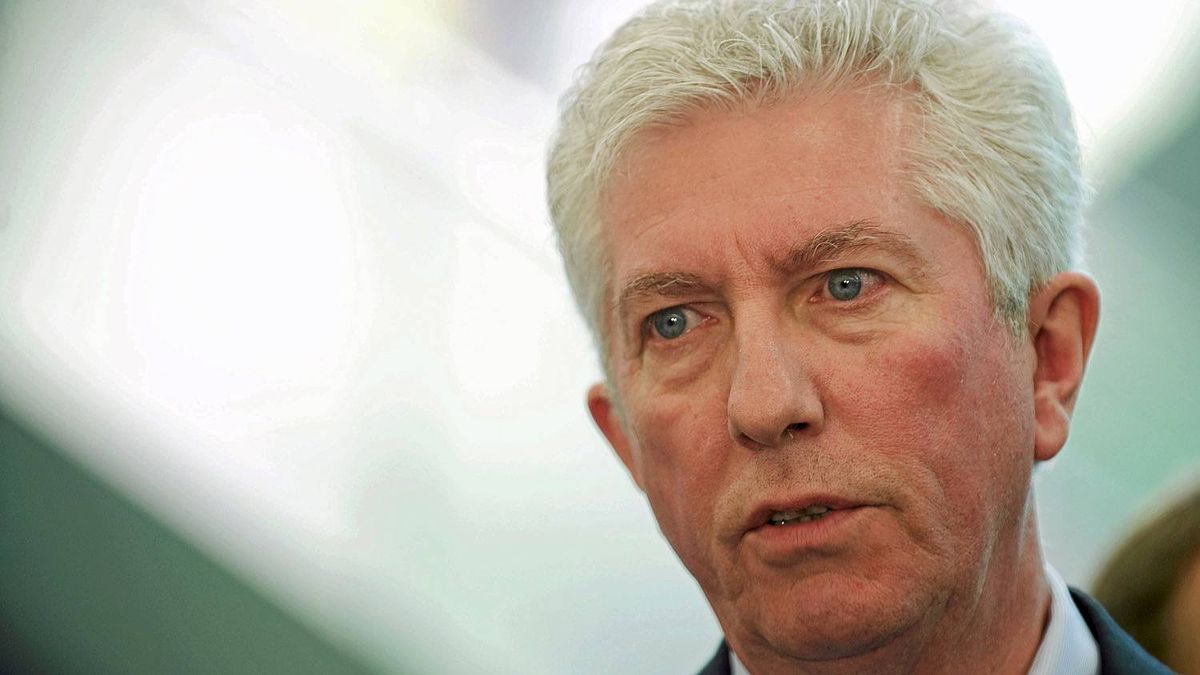 Bloc Quebecois leader Gilles Duceppe speaks to reporters during a federal election campaign stop at a Parti Quebecois national policy convention in Montreal, Sunday, April 17, 2011. THE CANADIAN PRESS/Graham Hughes