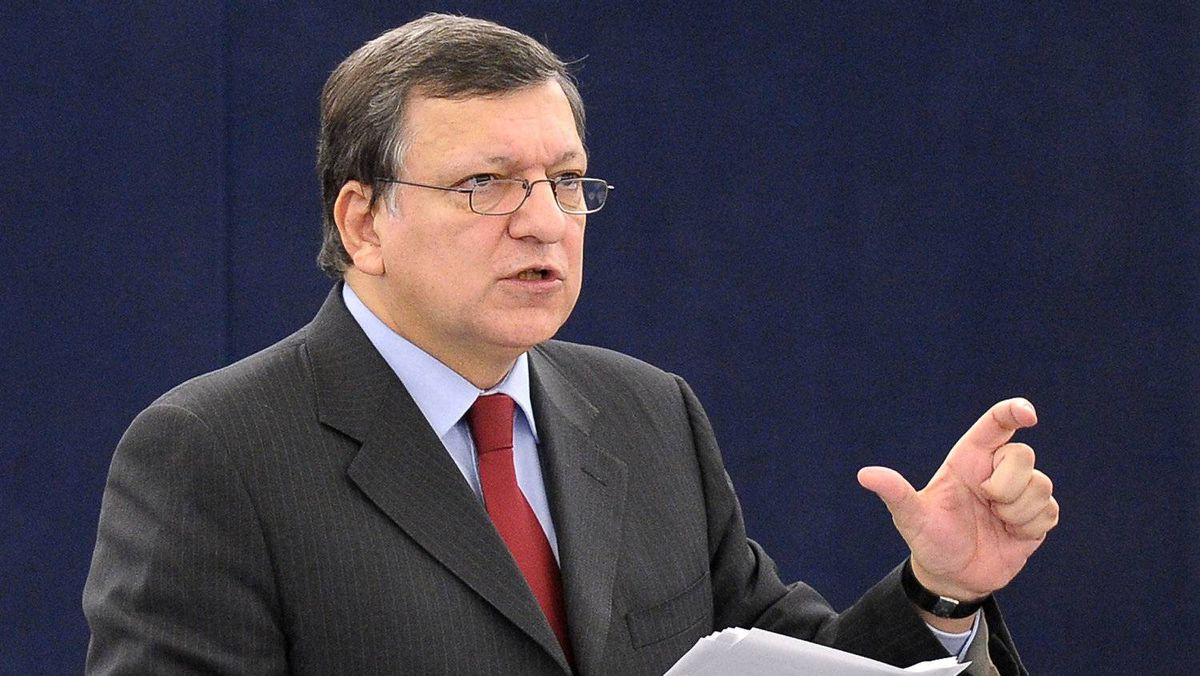 EU Commission President Jose Manuel Barroso, seen here on Dec. 13, 2011 in Strasbroug, France, joined critics of British Prime Minister David Cameron's decision to reject the EU fiscal treaty.