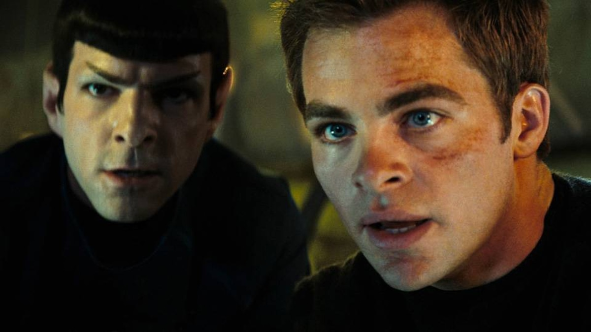 Zachary Quinto (left) and Chris Pine in a scene from Star Trek.