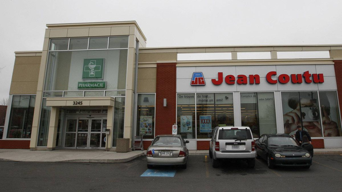 An exterior shot of Jean Coutu store in Longueuil, Quebec, May 2, 2012.