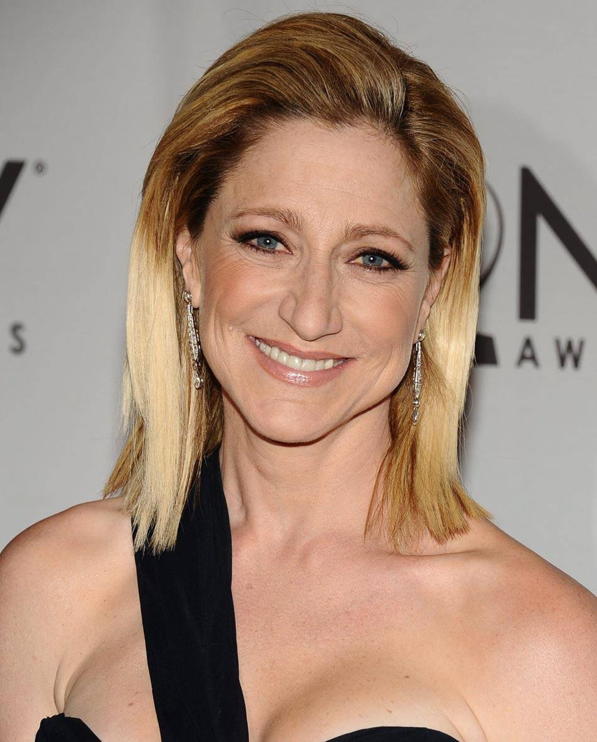 Edie Falco arrives at the 65th annual Tony Awards, Sunday, June 12, 2011 in New York.