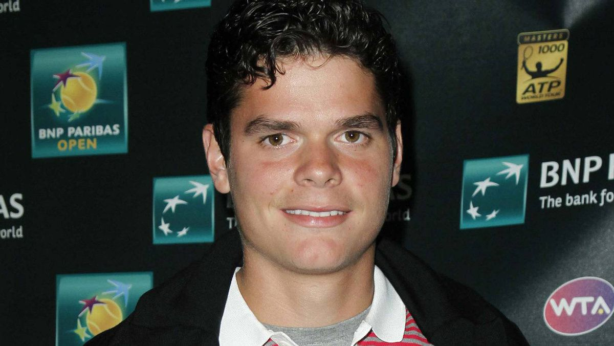 Rising Canadian tennis star Milos Raonic of Thornhill, Ont. will represent Canada at London 2012. REUTERS/Danny Moloshok