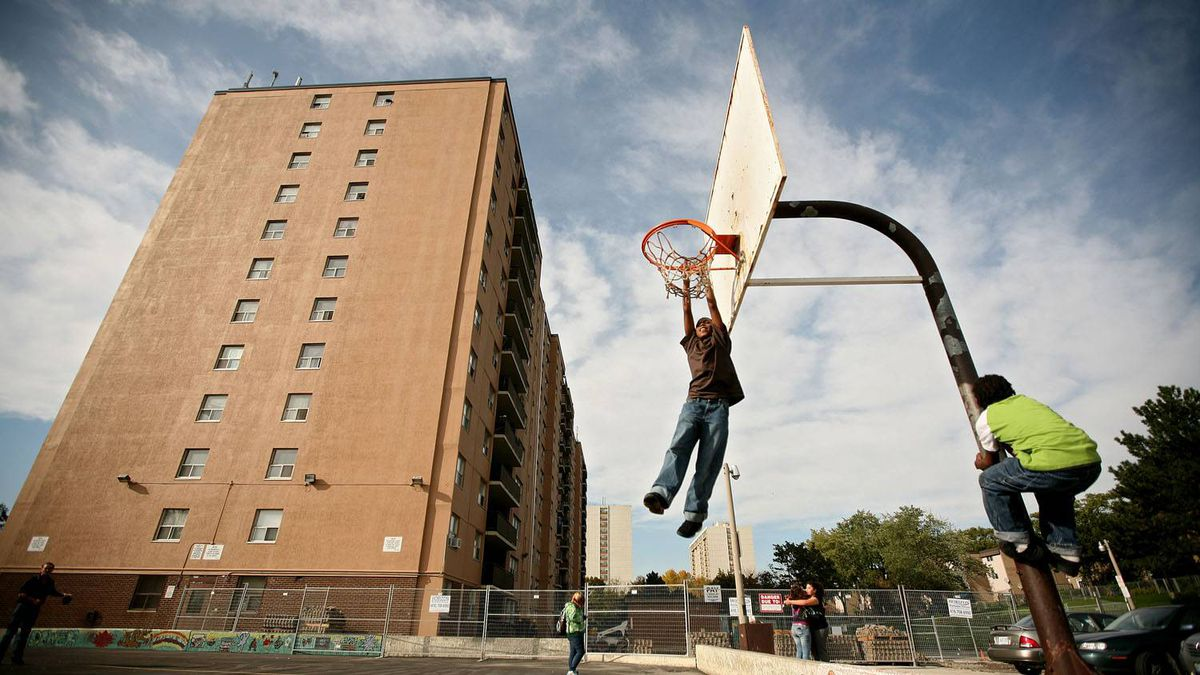 The basketball court in the Clarks Corners (Birchmount and Finch) area of Toronto. Tim Fraser for The Globe and Mail