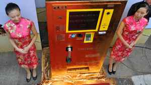 Shoppers can insert cash or use a bank card to withdraw gold bars or coins of various weights based on market prices. China is the world's second largest bullion consumer after India.