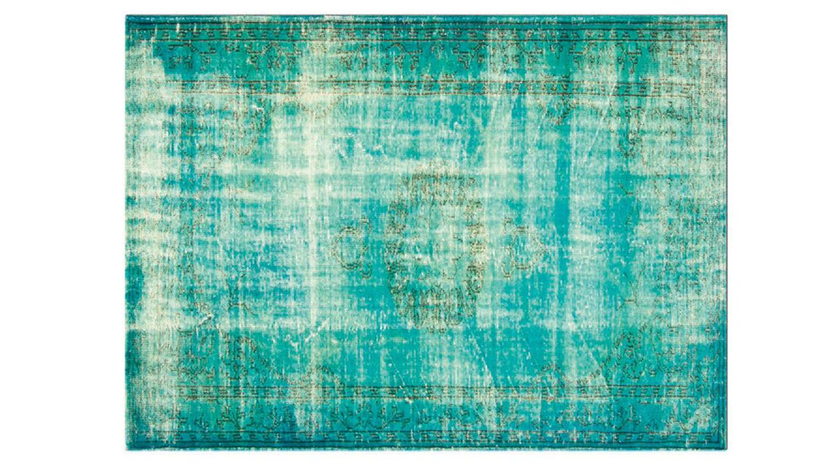 Modern Weave?s exclusive collection of dyed antique rugs are the work of an independent Turkish artist who sources old rugs from nearby villages before distressing and dying them in his studio. Custom sizes and colours are available. From $1,995 through www.modernweave.com.