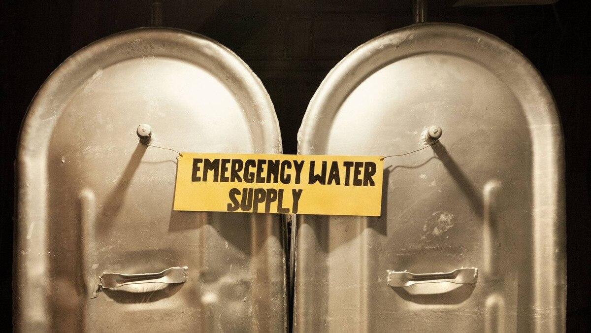 Emergency water supply.