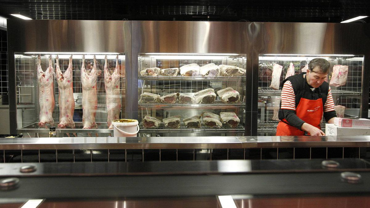 Loblaw is trying to reclaim its reputation as a foodie haven with its newest store, which features a meat aging room.