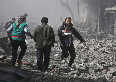United Nations expresses 'outrage' over bombardment deaths in Damascus suburbs
