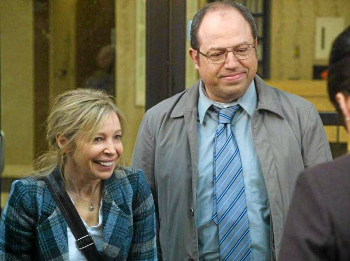 Nancy Robertson and Brent Butt are shown in a scene from the new CTV television show Hiccups.