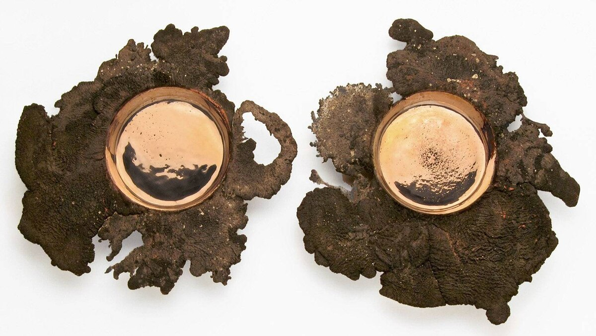 B.C.-based Omer Arbel's Series 19 Bowls made of 100-per-cent recycled copper.