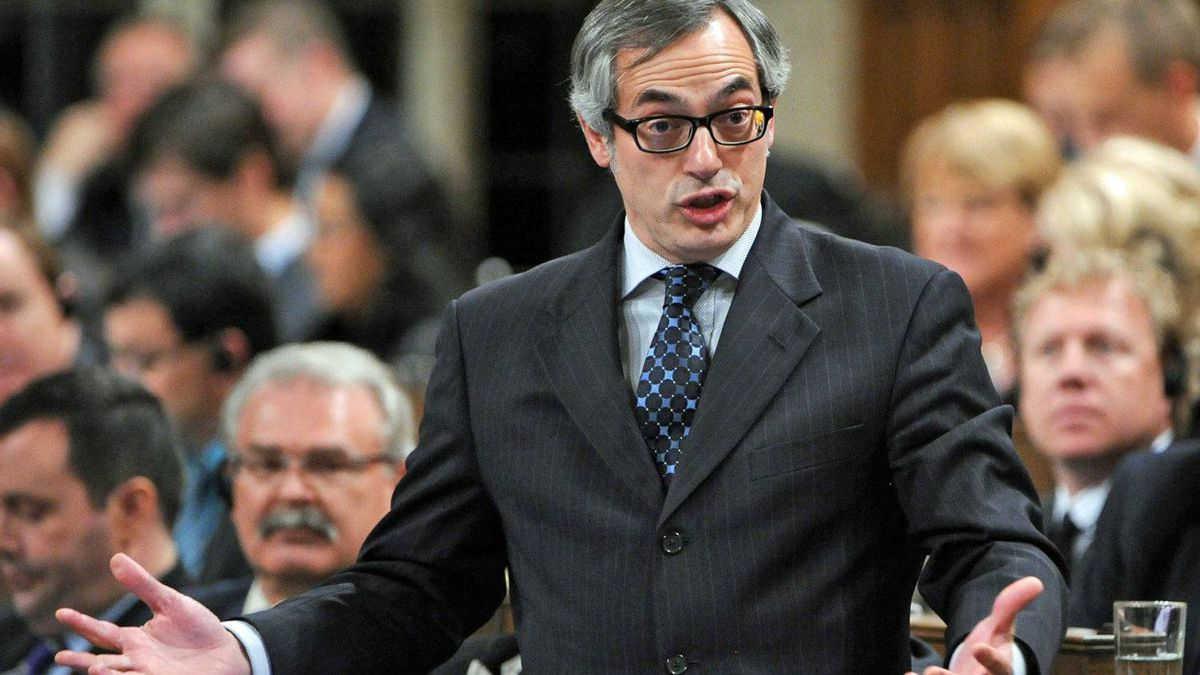 Treasury Board President Tony Clement speaks during Question Period in the House of Commons on Nov. 23, 2011.