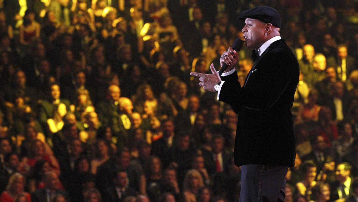 Host LL Cool J at the 54th annual Grammy Awards in Los Angeles.