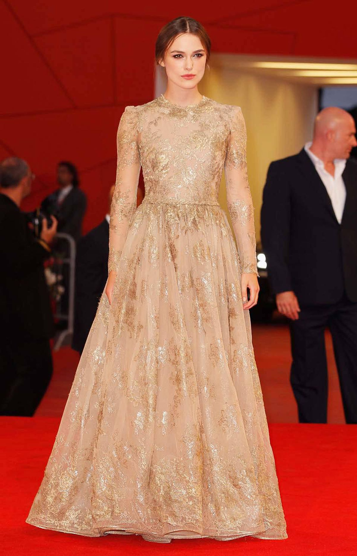 """The doll-thieving actress Keira Knightley attends the premiere of """"A Dangerous Method"""" at the Venice Film Festival Friday."""
