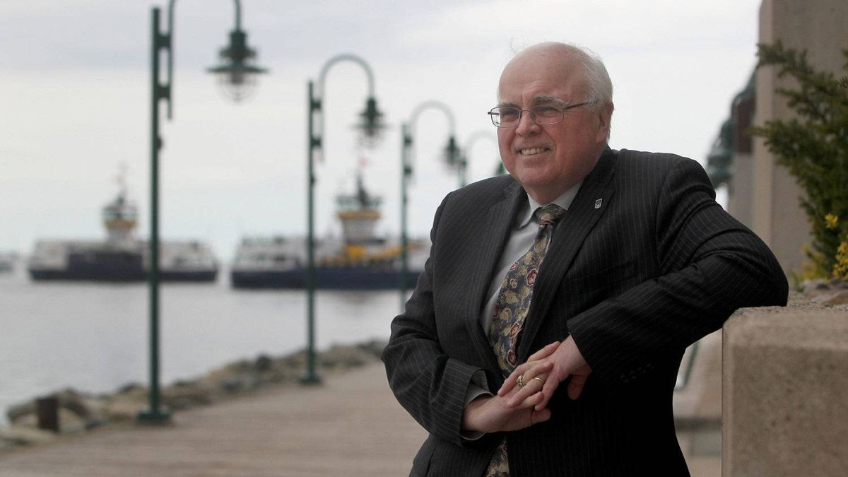 Fred Morley, executive vice president and chief economist for the Greater Halifax Partnership poses along the Halifax waterfront.