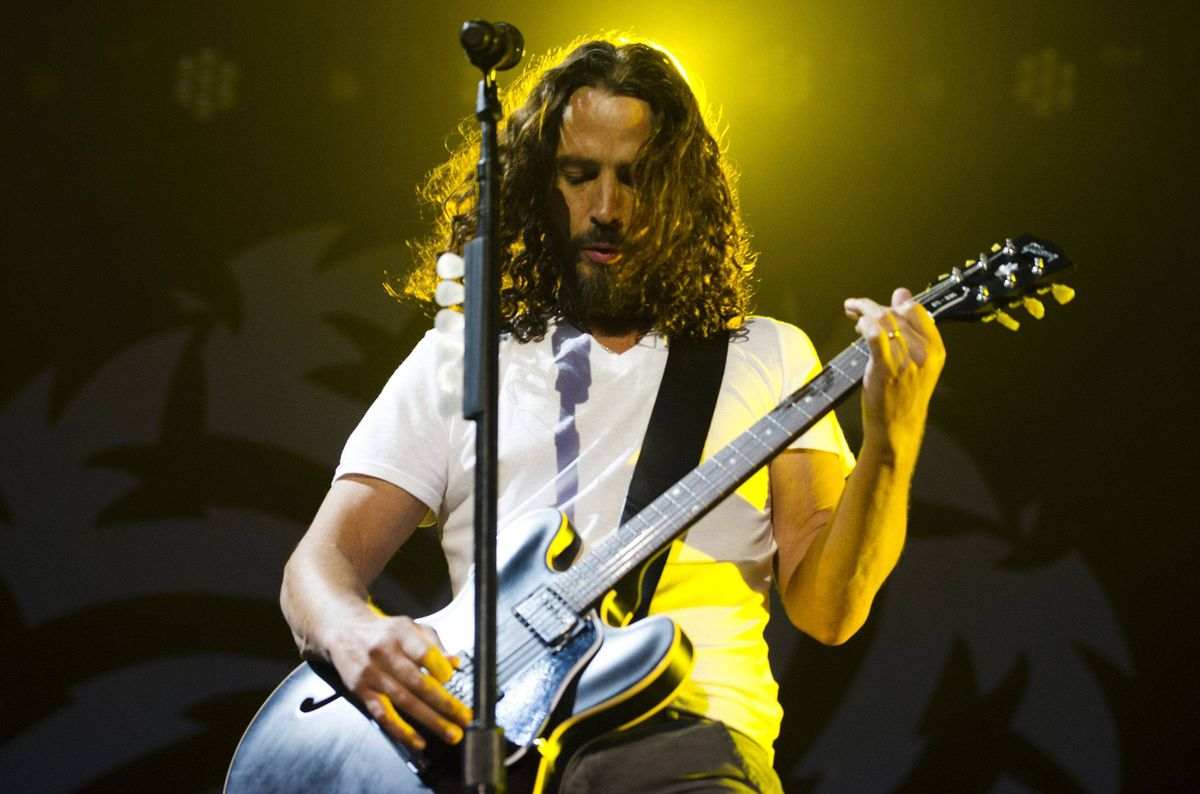 Chris Cornell of Soundgarden performs during their concert in Toronto.