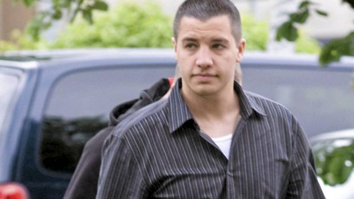 Jonathan Bacon walks outside Abbotsford Court House, June 6, 2008.