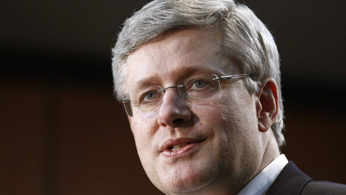 Prime Minister Stephen Harper, seen in this Reuters photo.