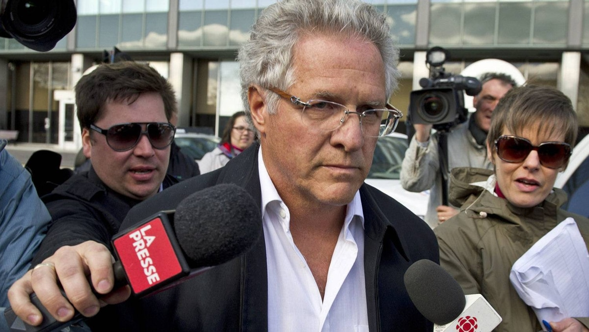 Quebec construction magnate Tony Accurso leaves the Quebec Provincial Police headquarters in Montreal after being arrested for charges of fraud along with 13 others on April 17, 2012.