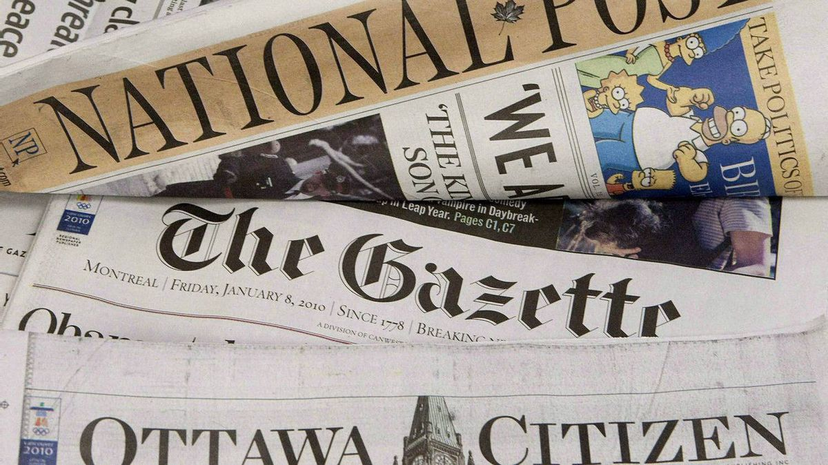 Some of Postmedia's newspapers.