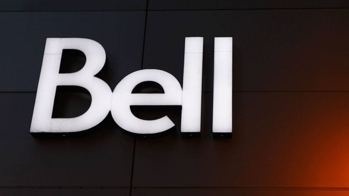 The Bell logo is seen on the company's building in downtown Montreal February 9, 2011.
