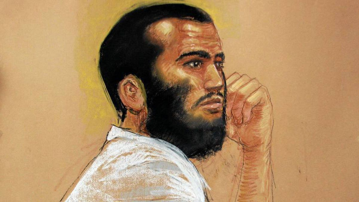 Canadian defendant Omar Khadr attends a hearing in the courthouse at the Guantanamo Bay U.S. Naval Base on Thursday.