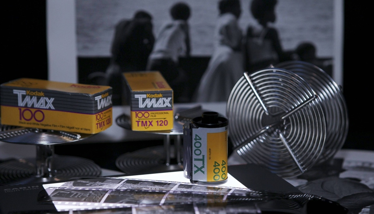 Eastman Kodak black and white film, negatives, film development reels and black and white photographic prints are shown January 6, 2012 in this studio illustration in Washington.