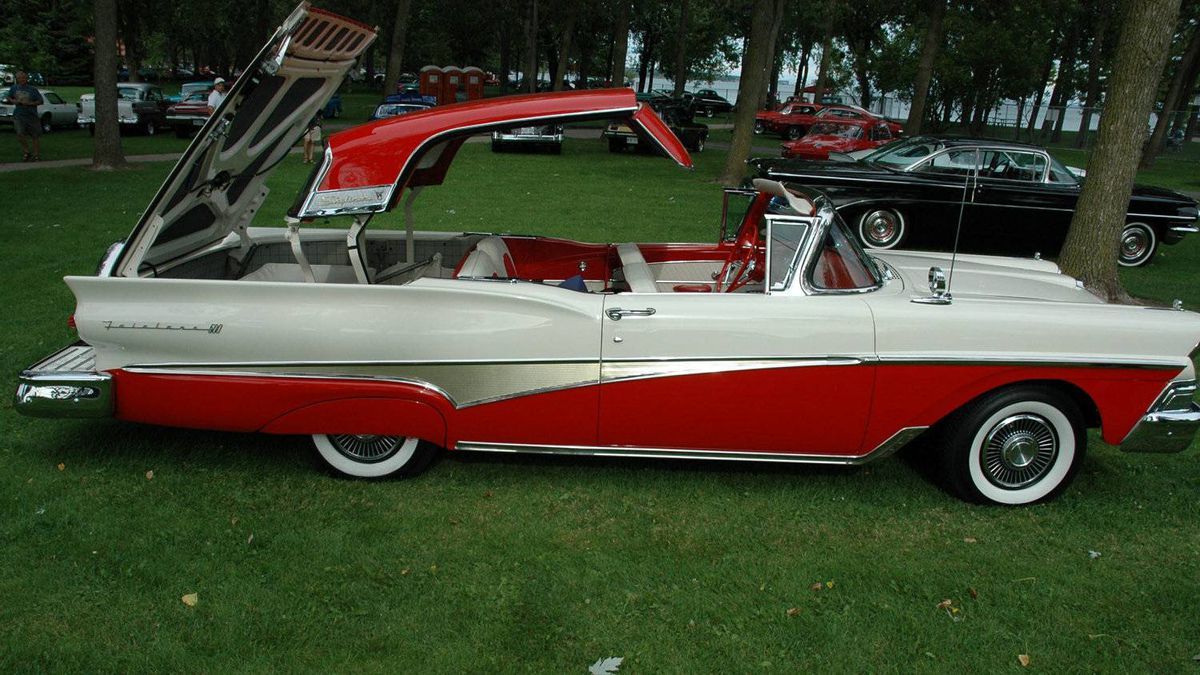 Third place winner: Steve Hauck's 1958 Ford Fairlane Retractable