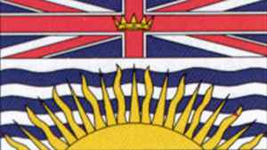 Provincial flag of British Columbia, authorized by an Order-in-Council June 27, 1960.