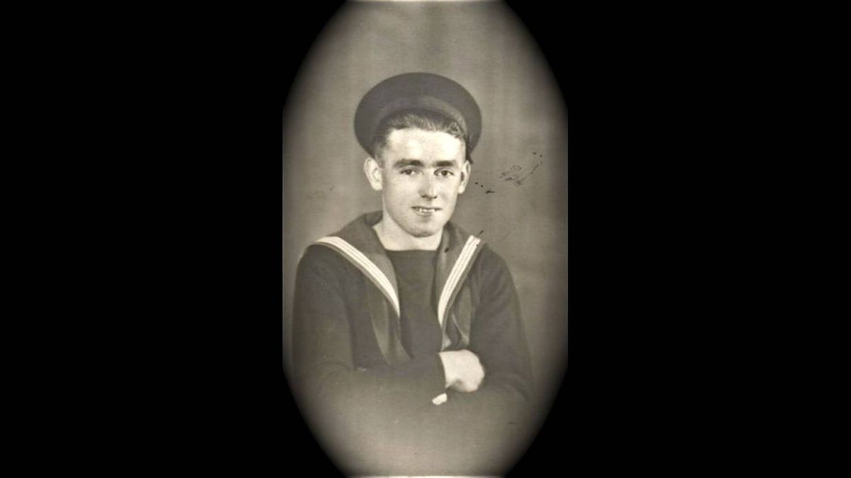 James Cousins photo: Gabe Cousins-Royal Navy - My father as a young seaman-he was in the war at 18-years-old and helped the soldiers escape from Dunkirk! Served mostly in the North Africa and Malta area!