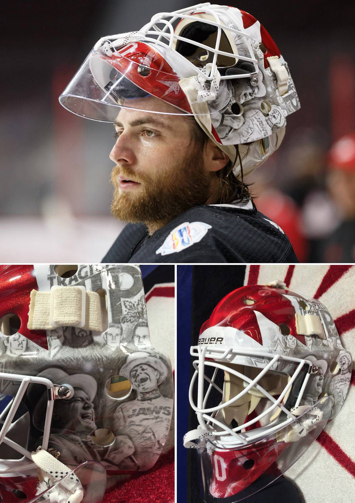 The Man Behind The Masks Swedish Artist Designs Helmets For Hockey
