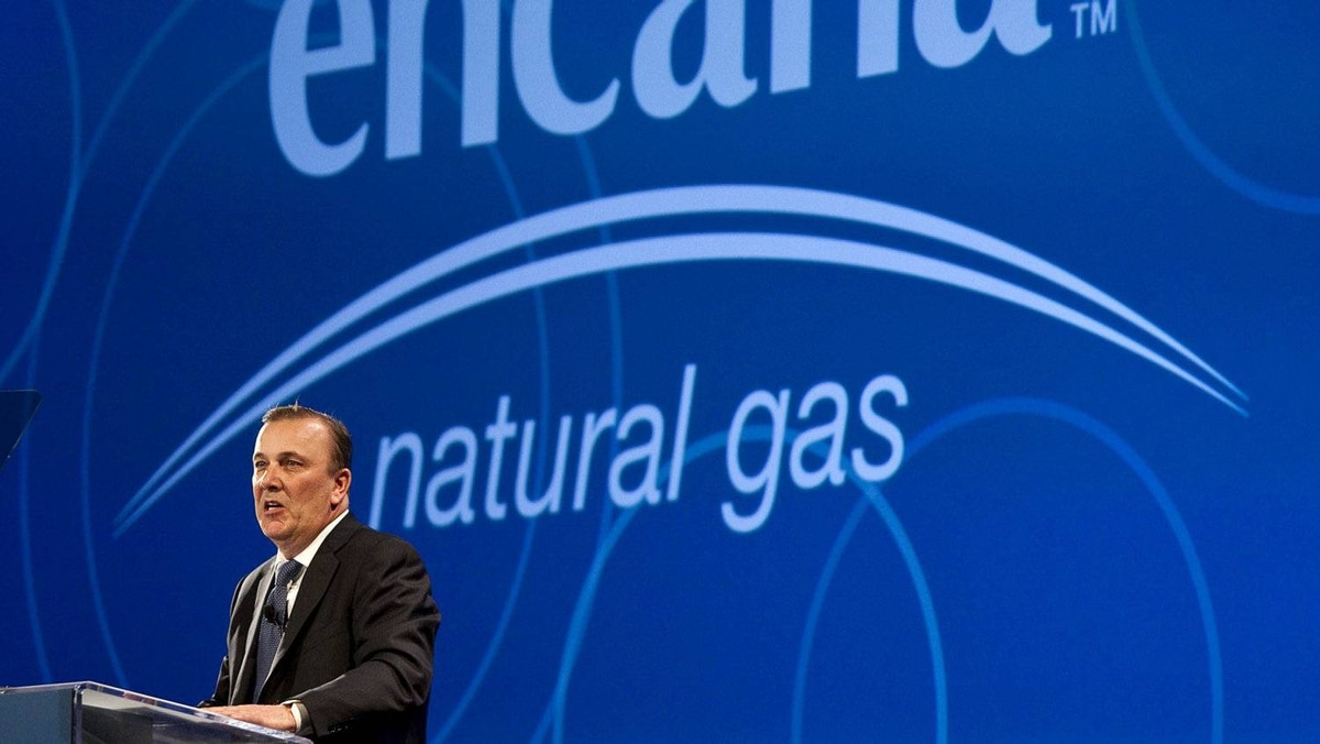 Randy Eresman, president and CEO, of EnCana Natural Gas, addresses the company's annual meeting in Calgary, Wednesday, April 20, 2011.