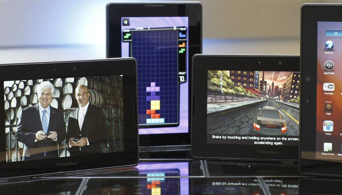The Blackberry PlayBook, photographed at Research In Motion's headquarters in Waterloo, Ont.