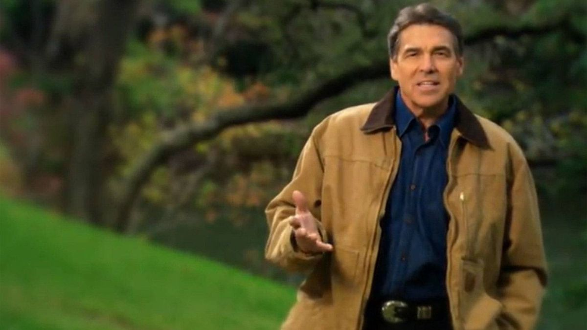 Rick Perry, a candidate for the Republican party's nomination for President, says in a new video ad 'You know there's something wrong in this country when gays can serve openly in the military, but our kids can't openly celebrate Christmas or pray in school.'
