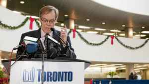 Russ Ford, executive director of LAMP Community Health Centre in south Etoboicoke, speaks out about the impact that proposed healthcare budget cuts will have on the health of Torontonians during a press conference organized by healthcare professions at Toronto City Hall on Jan. 8, 2012.