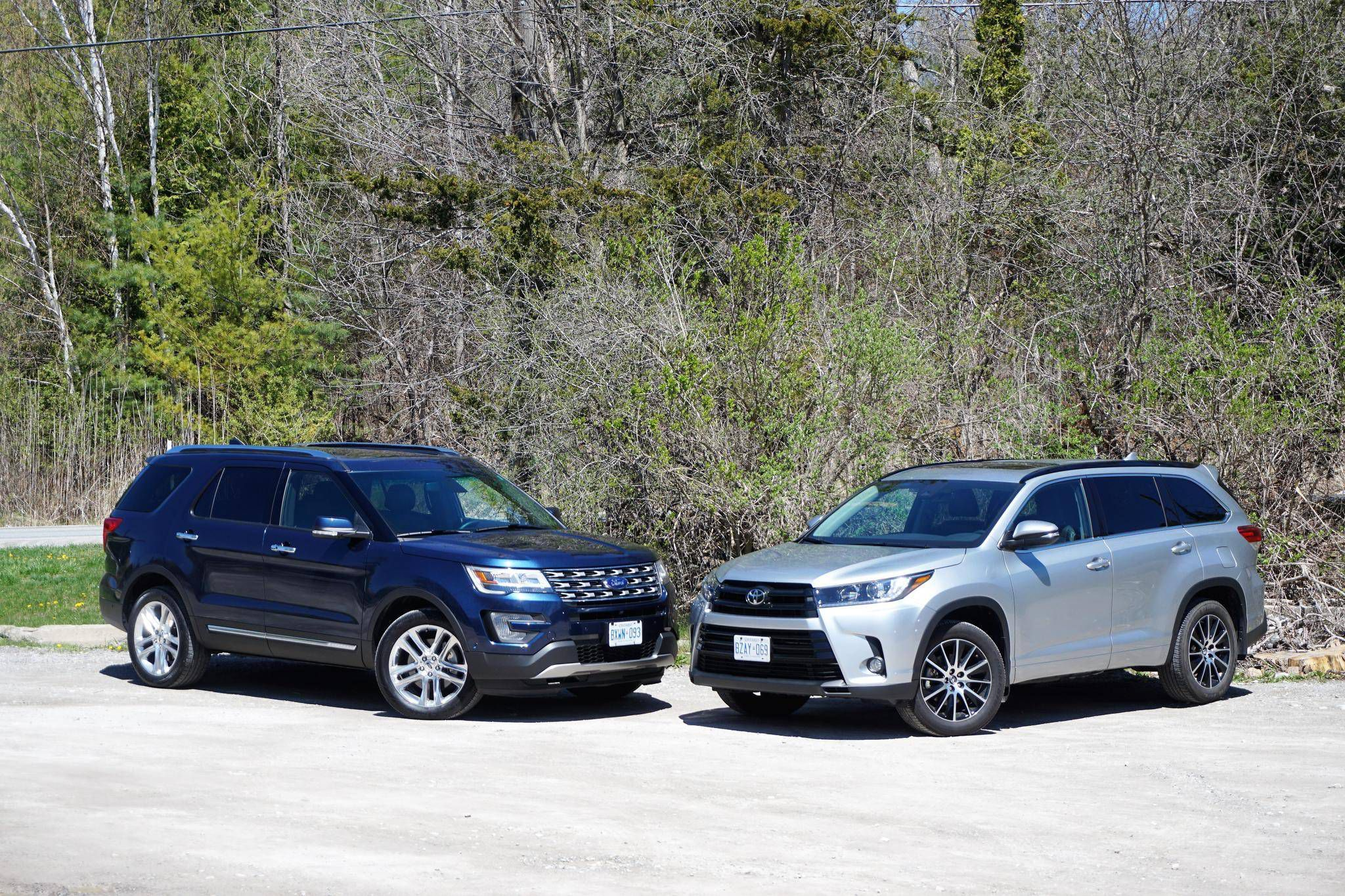 Faceoff ford explorer vs toyota highlander the globe and mail
