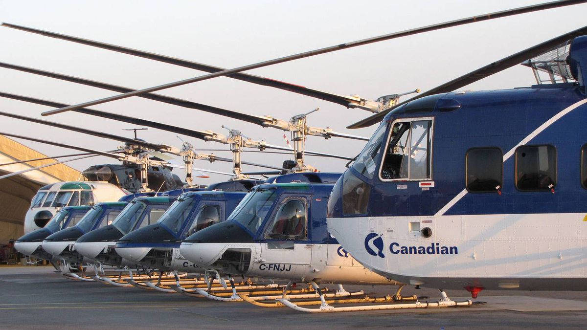 Canadian Helicopters' fleet in Afghanistan includes 7 Bell 212s and 4 Sikorsky 61s.