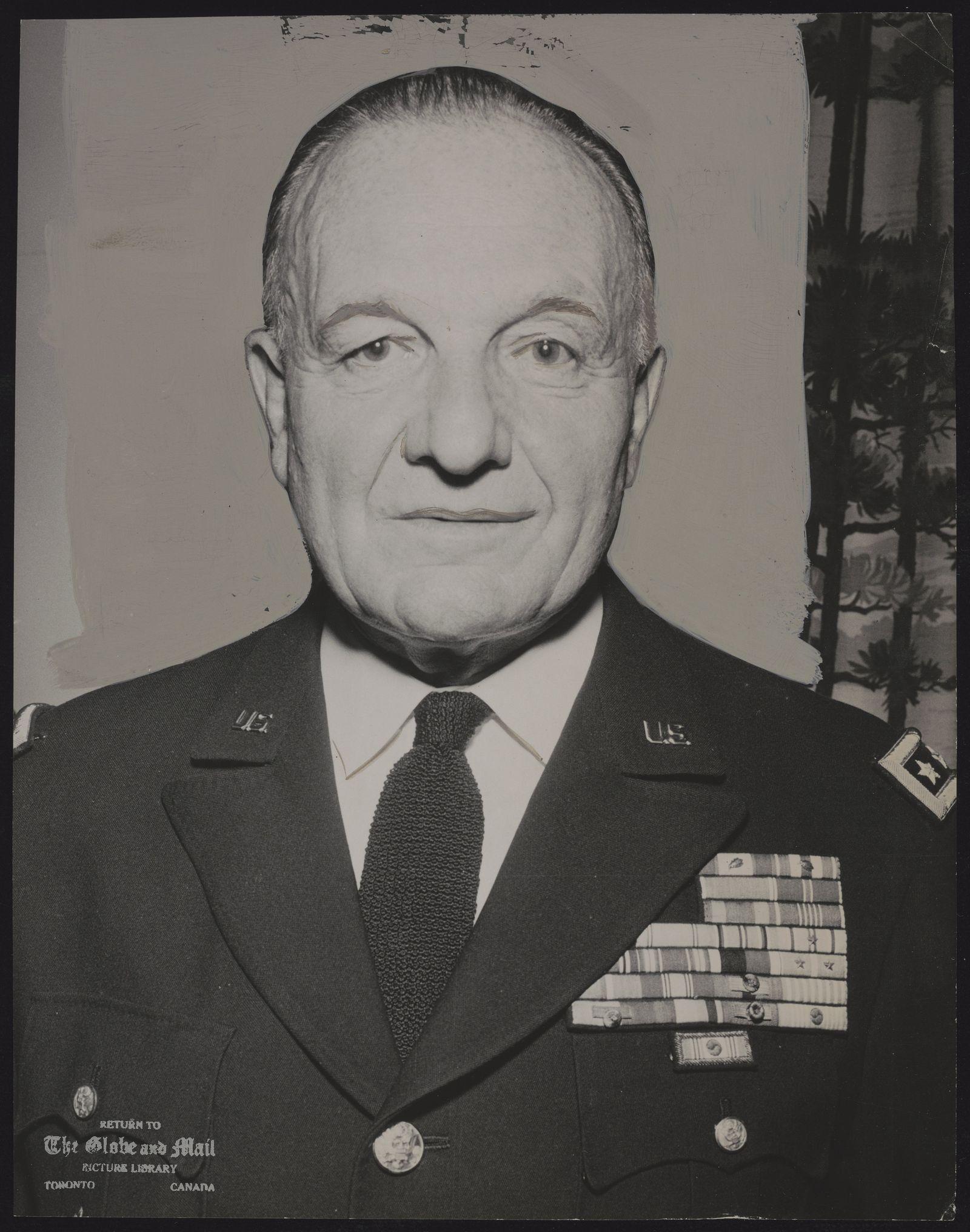 (LT. GEN) ARTHUR TRUDEAU U.S. Army Lt. General Arthur Gilbert Trudeau in Toronto