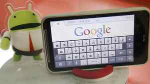 An Android smartphone displays the Google website in this picture illustration in Seoul September 7, 2011.